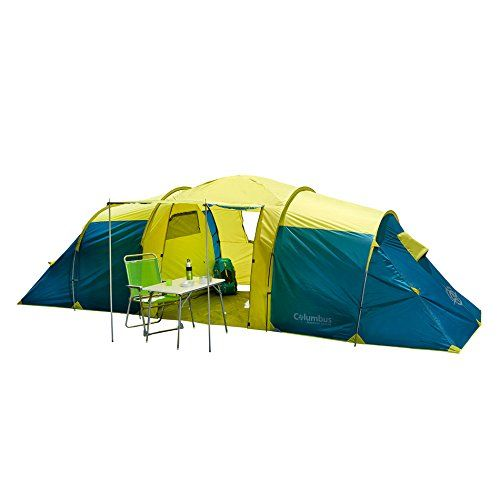 Columbus Unisex S Ness 6 Camping Tent Yellow Blue One Size