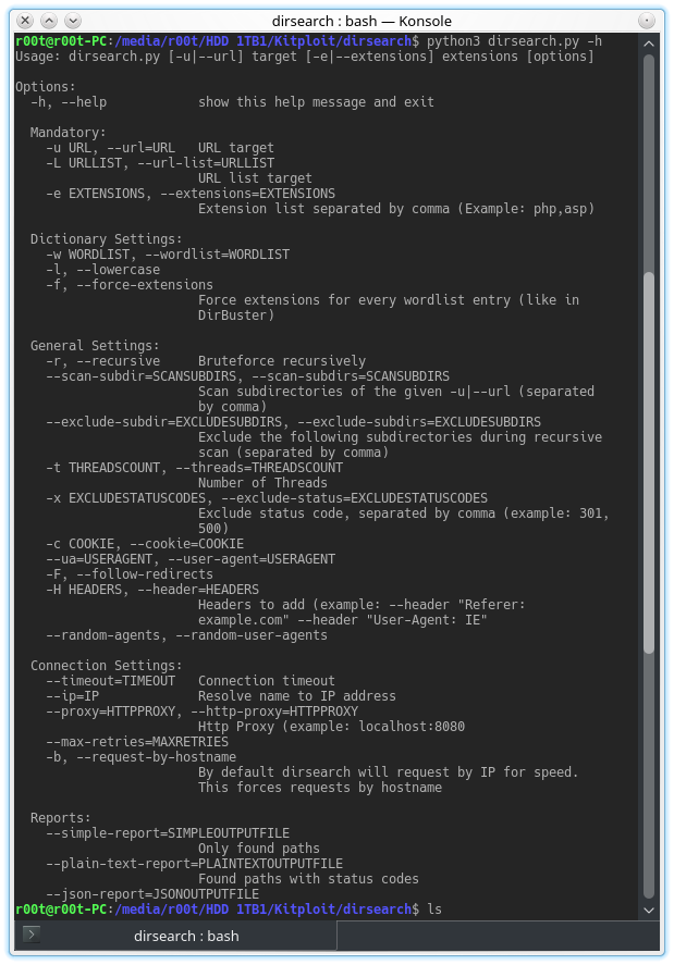 dirsearch v0 3 8 - Brute Force Directories and Files in Websites