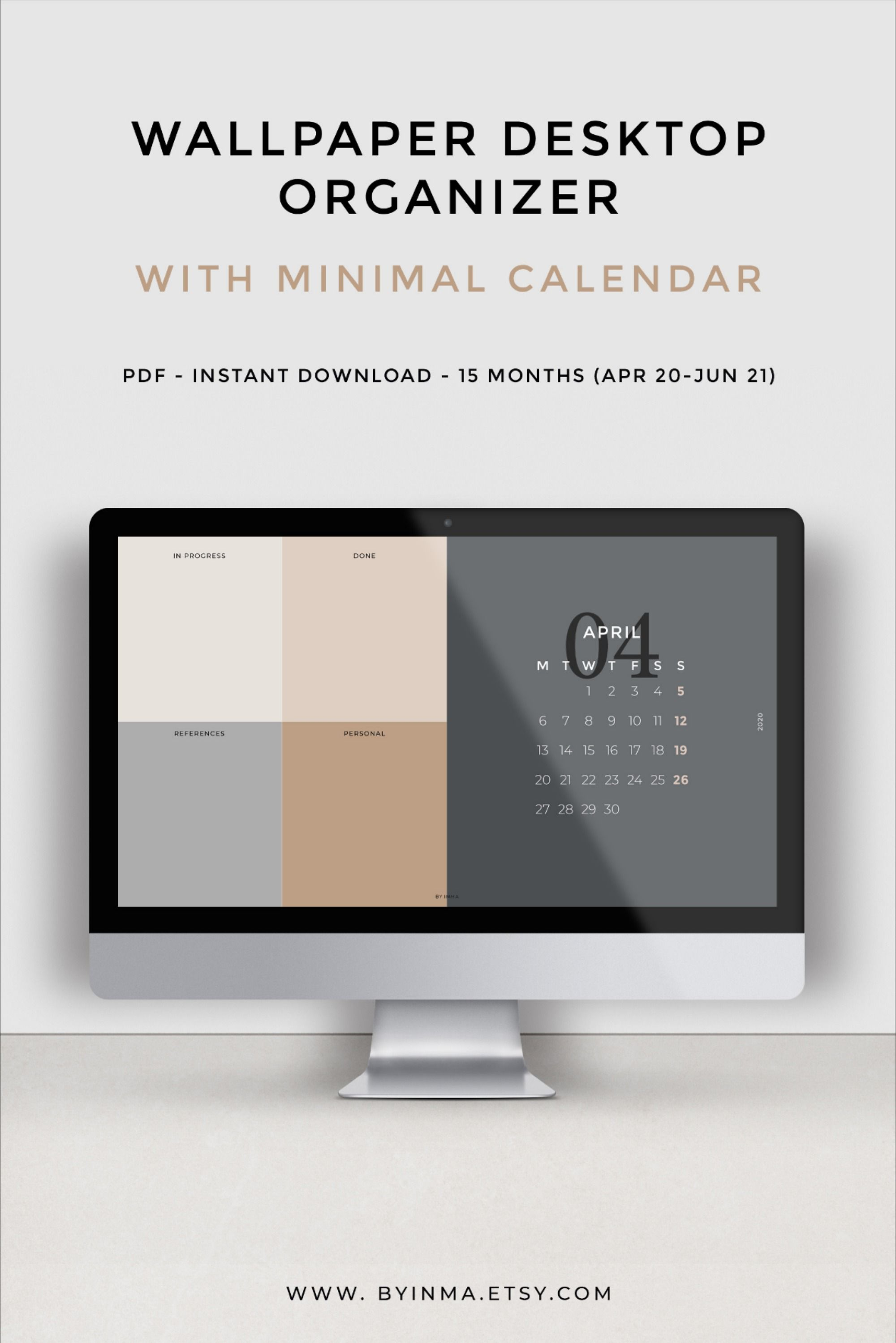 Desktop Wallpaper Calendar Organizer Minimalist Calendar 2021 2022 Desktop Background Matching Folder Icons Included In 2021 Desktop Wallpaper Calendar Desktop Organization Desktop Wallpaper Organizer