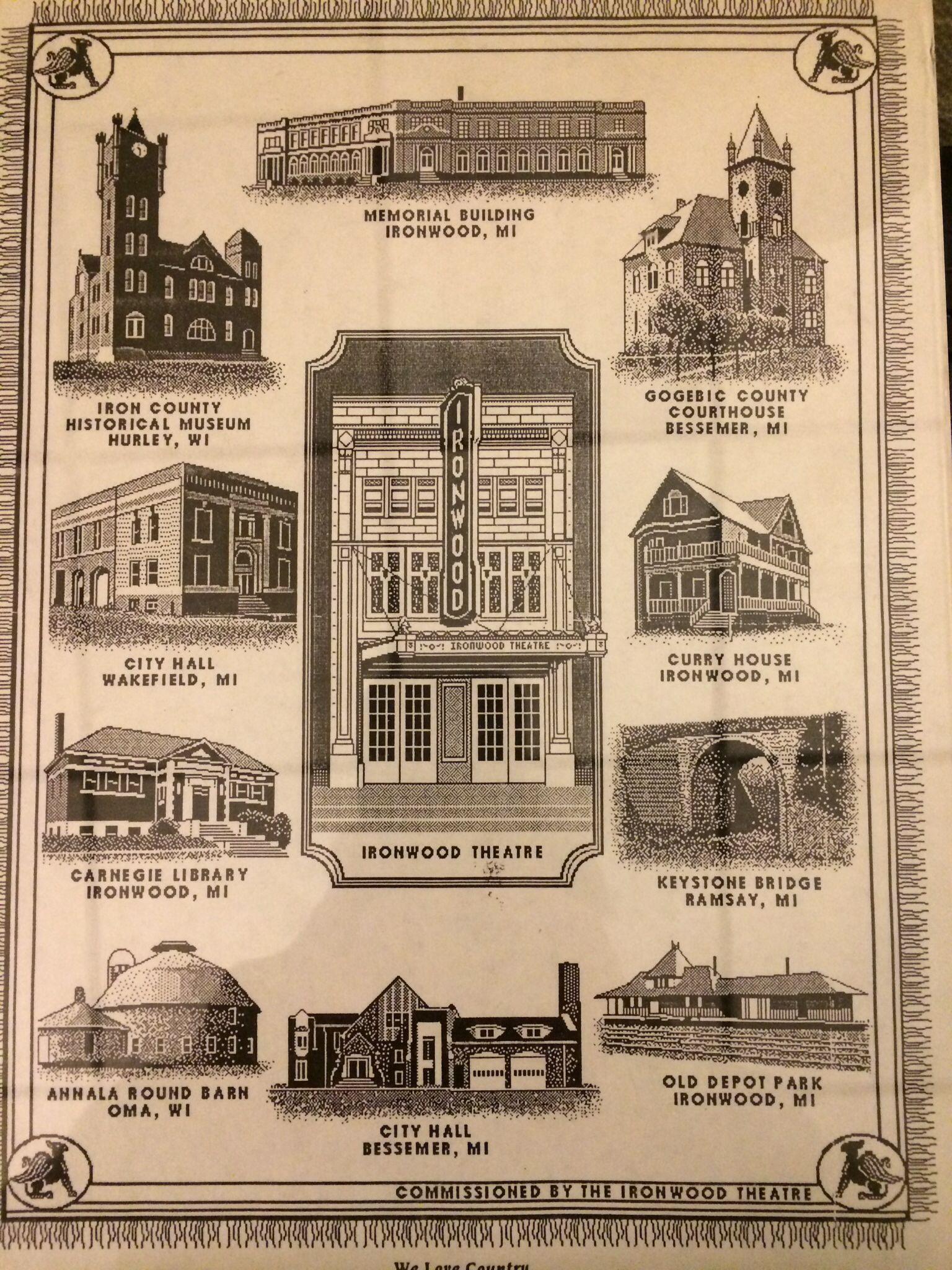 Ironwood Michigan Historic Buildings Ironwood Michigan Gogebic County Roadside Attractions