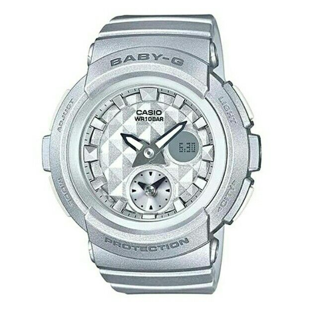 a4caaf3c847 Information about CASIO s watches   clocks. Check out ORIGINAL BABY-G Women  Silver Resin StrapWatch BGA-195-8ADR at