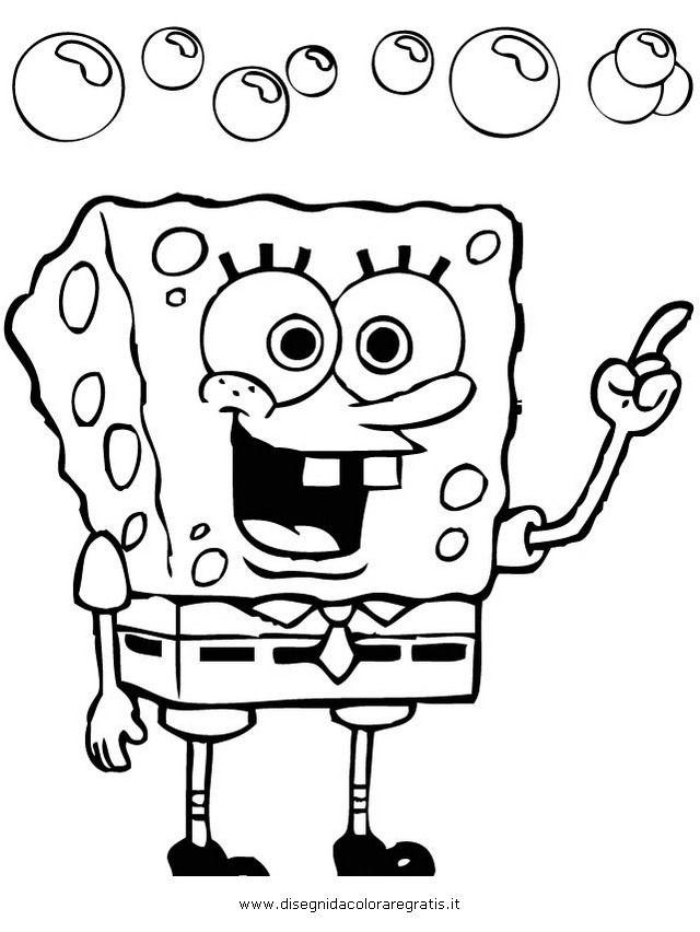 Disegni Spongebob Da Colorare.Disegno Spongebob 30 Personaggio Cartone Animato Da Colorare