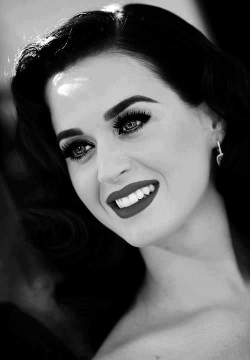 black and white; katy perry