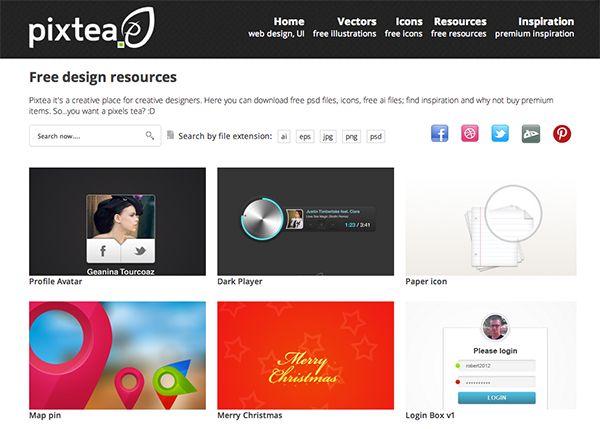 Pixtea Pixtea Com Awesome Vector Freebies Web Design Free Design Resources Free Design