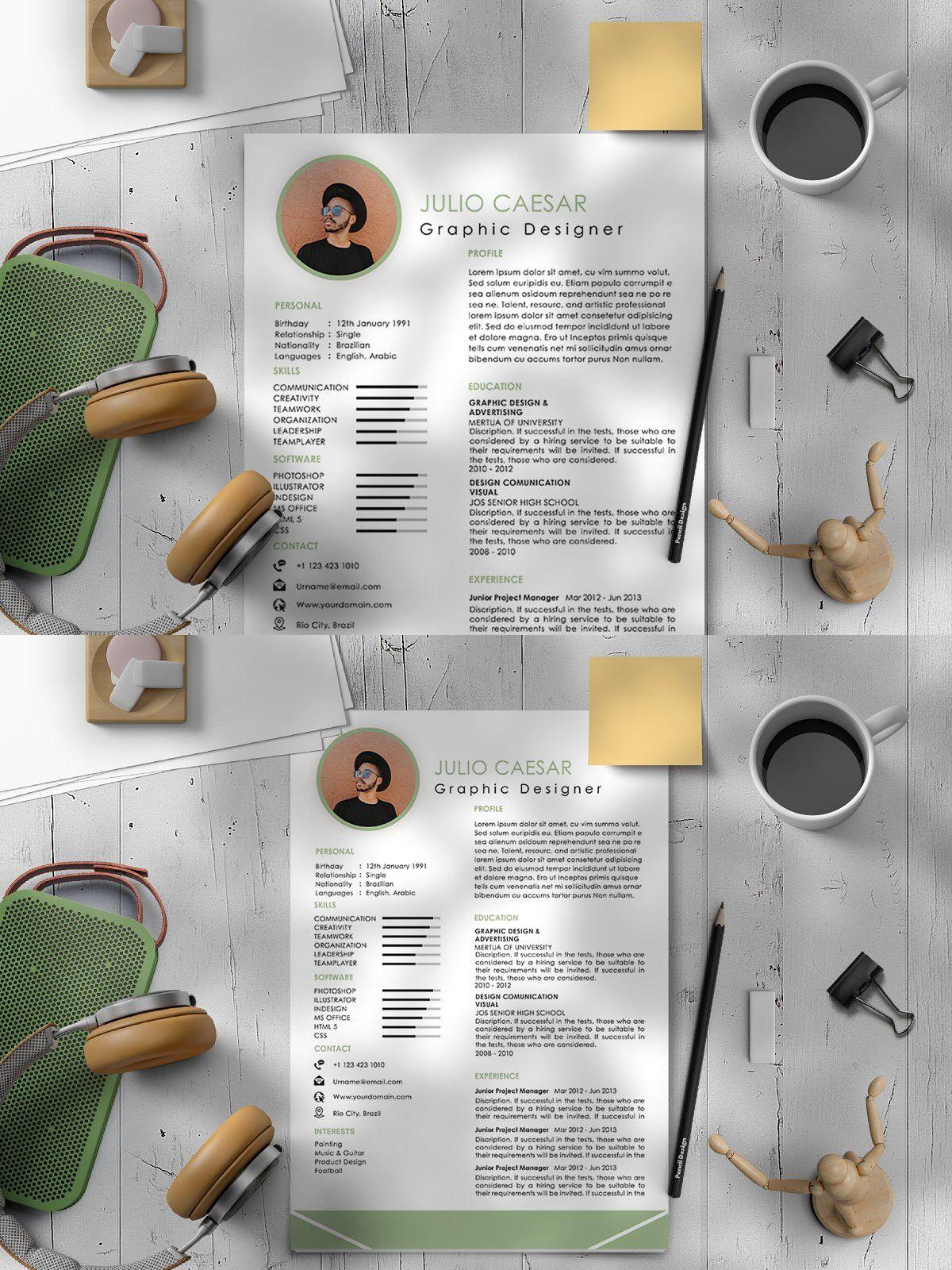 Clean Cv Resume Template Professional Resume Templates Creative