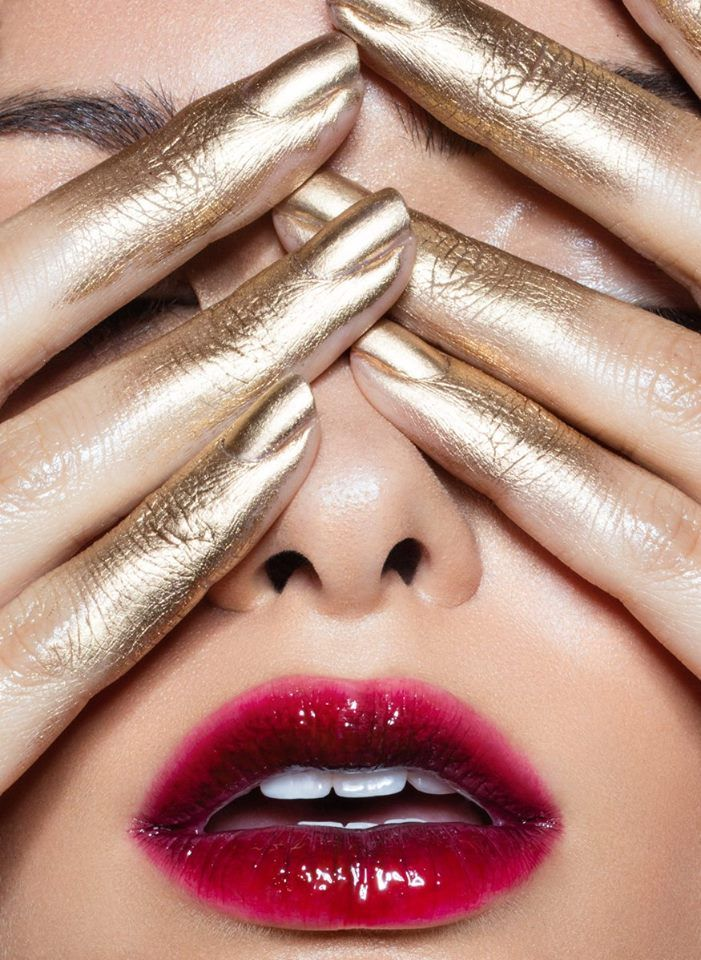 Golden Fingers makeup by Vladamua ️Photo & post by Julia Kuzmenko | Visual Artist
