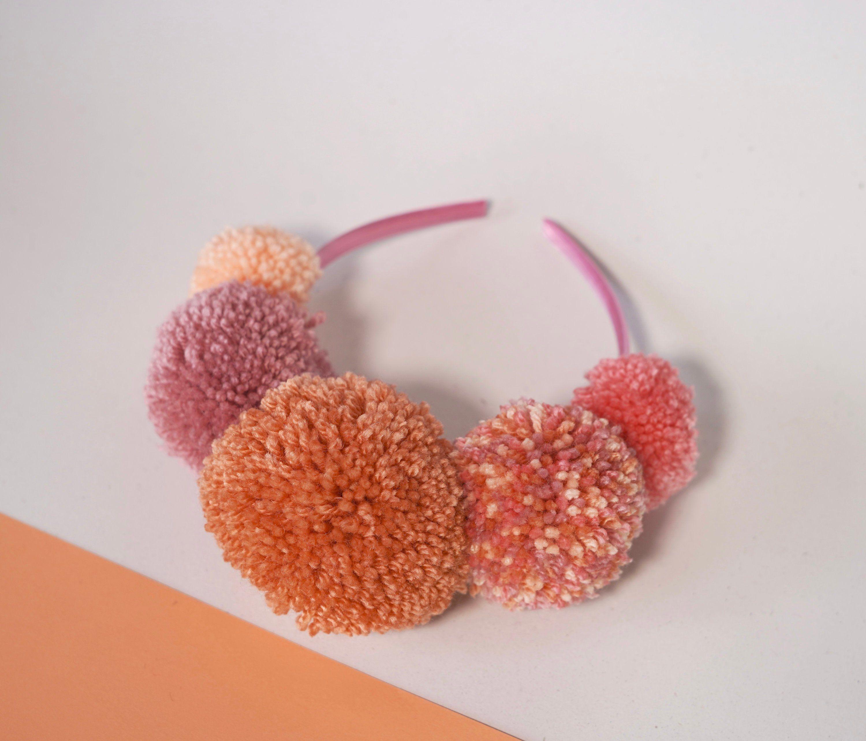 Birthday Crown Pom Pom Head Band Hair Accessories Headband