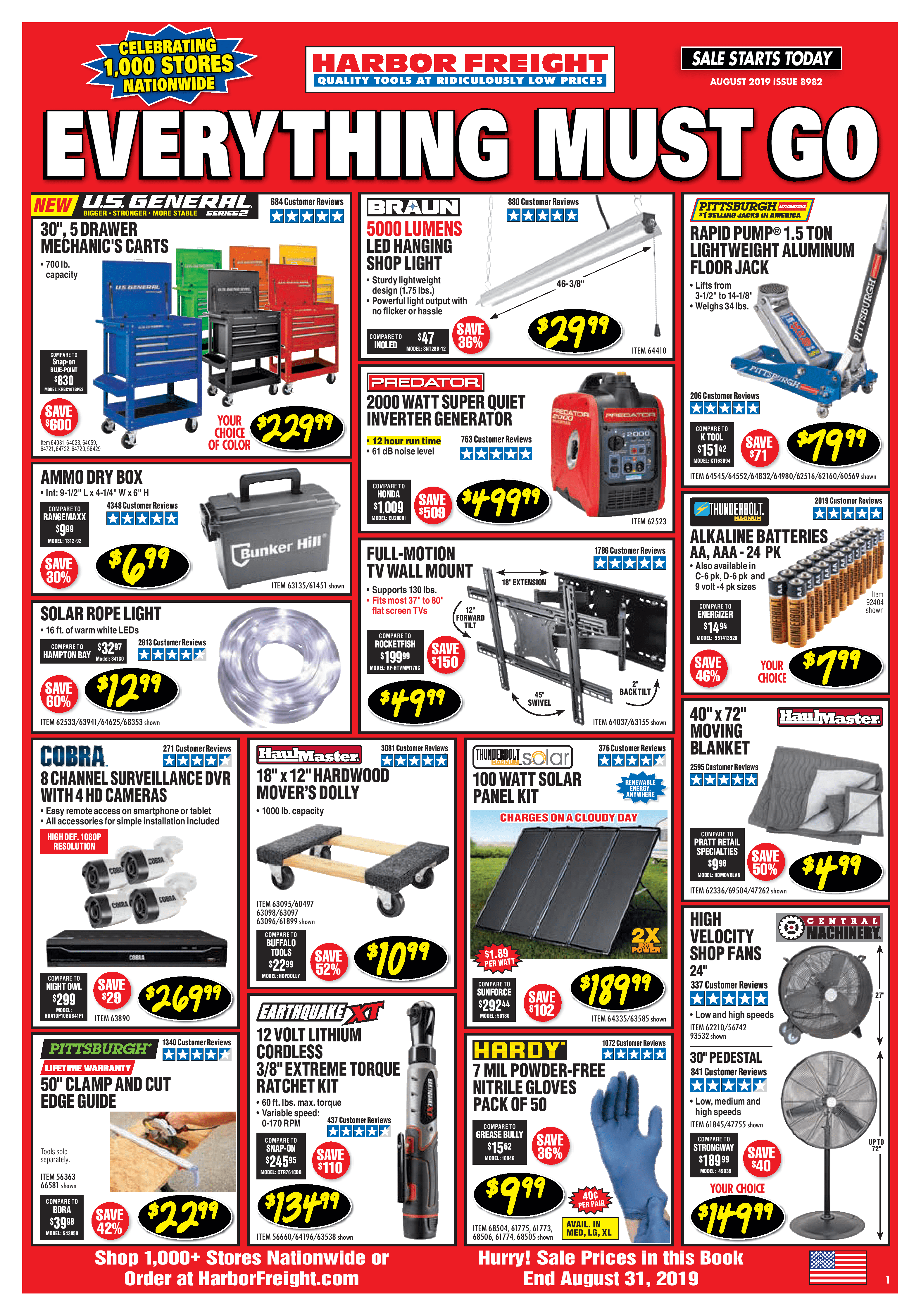 Harbor Freight Flyer And Monthly Ad August 2019 Harbor Freight Tools Harbor Freight Coupon Flyer