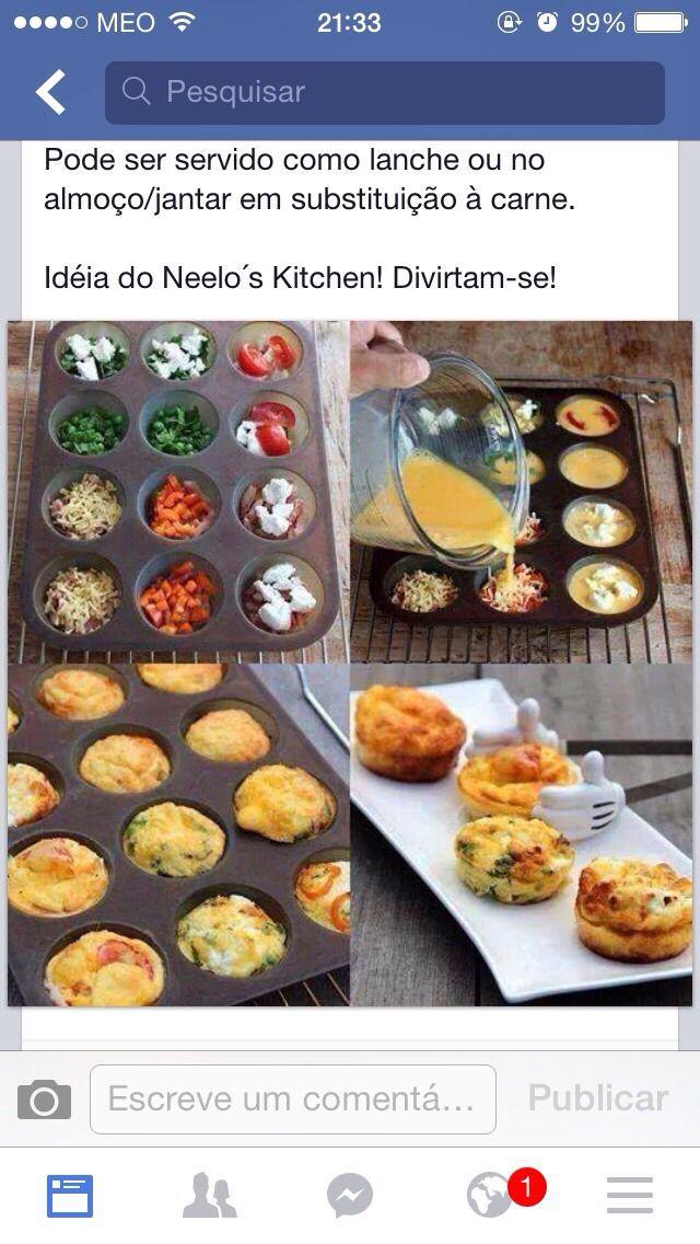 Muffins de ovos batidos