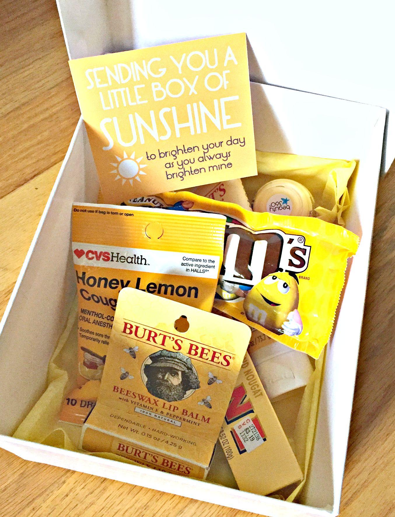 Send A Friend A Little Box Of Sunshine To Brighten Their