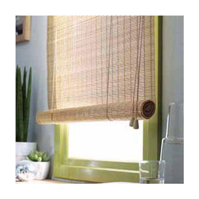 Store enrouleur Toba bambou plat naturel H. 180 cm - CASTORAMA ...