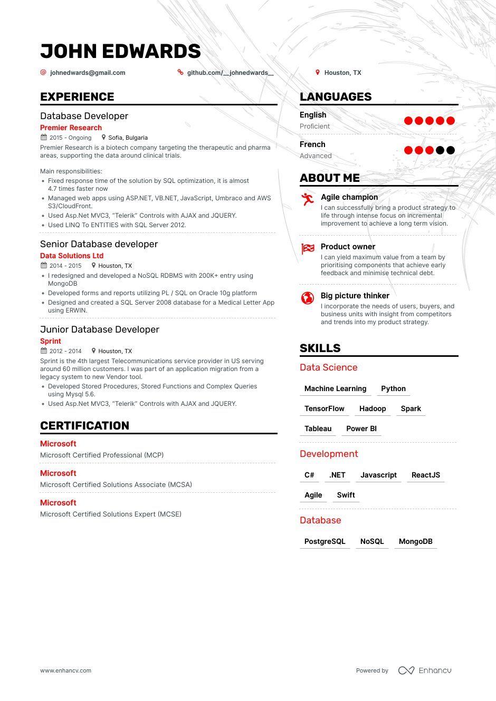 13 Mongodb Resume Examples Mongodb Developer Resume Samples Resume Examples Resume Job Resume