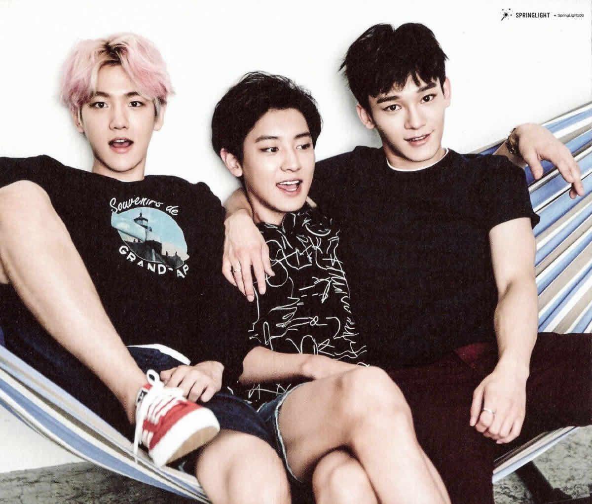 Chanyeol, Baekhyun y Chen EXO