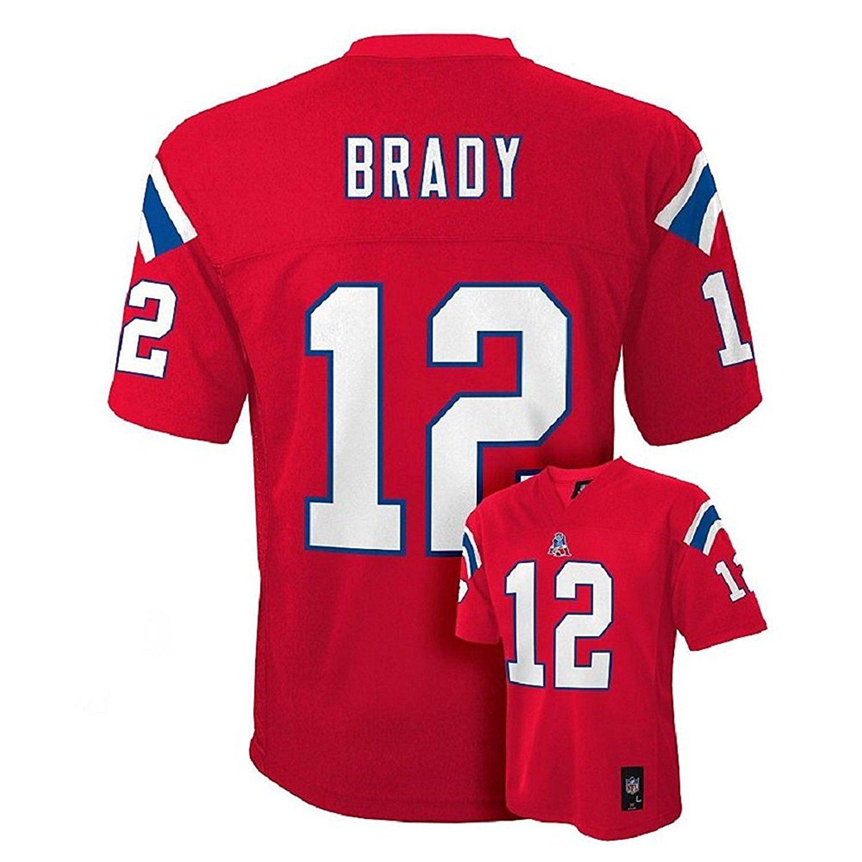 new styles b3967 65c28 Amazon.com: Tom Brady New England Patriots Red NFL Youth ...