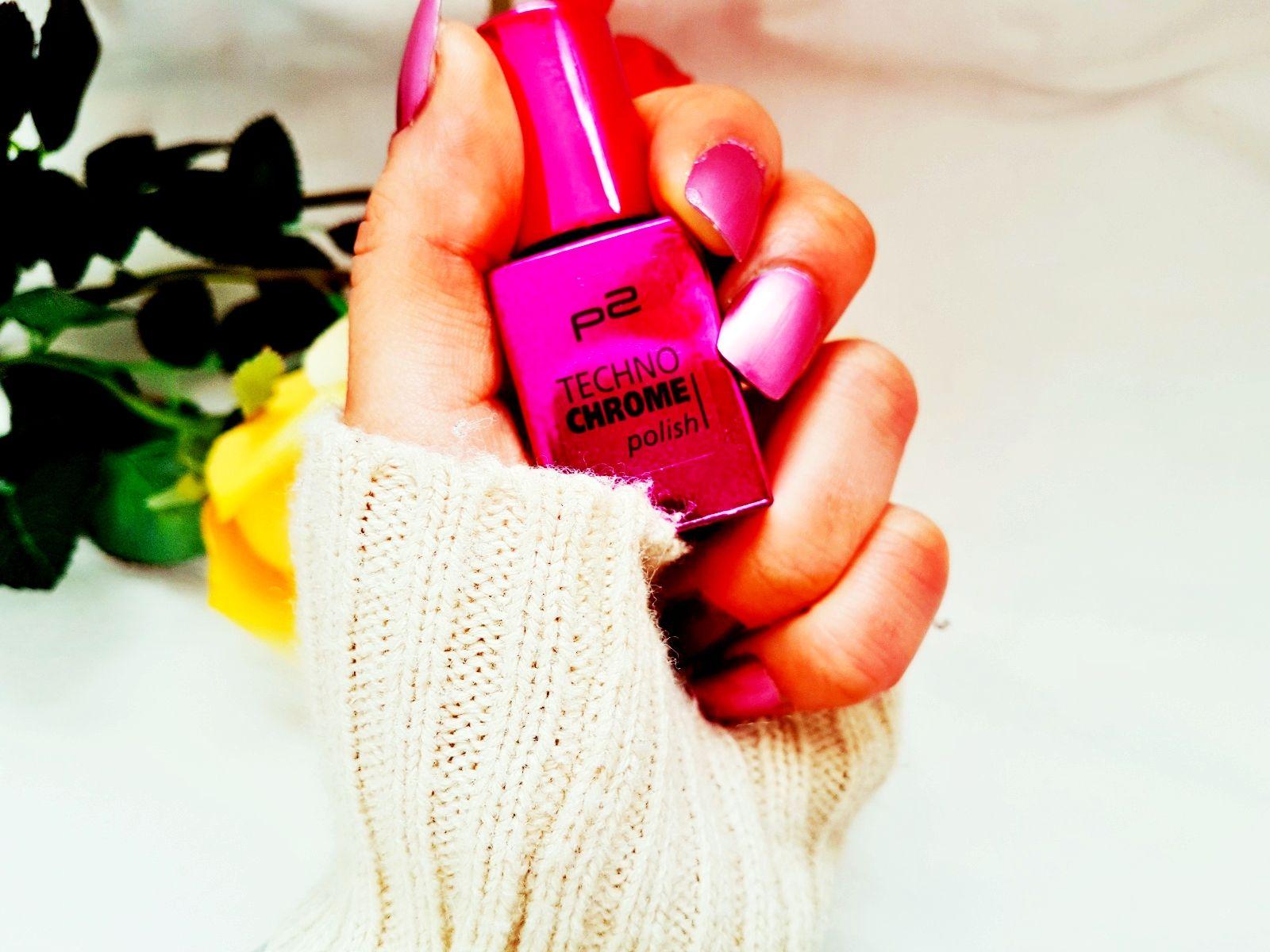 P2 cosmetics Nagellack  Techno Chrome Polish pink spark Erfahrung