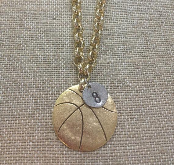 Basketball Necklace Pewter by StringABeadNOLA on Etsy, $30.00