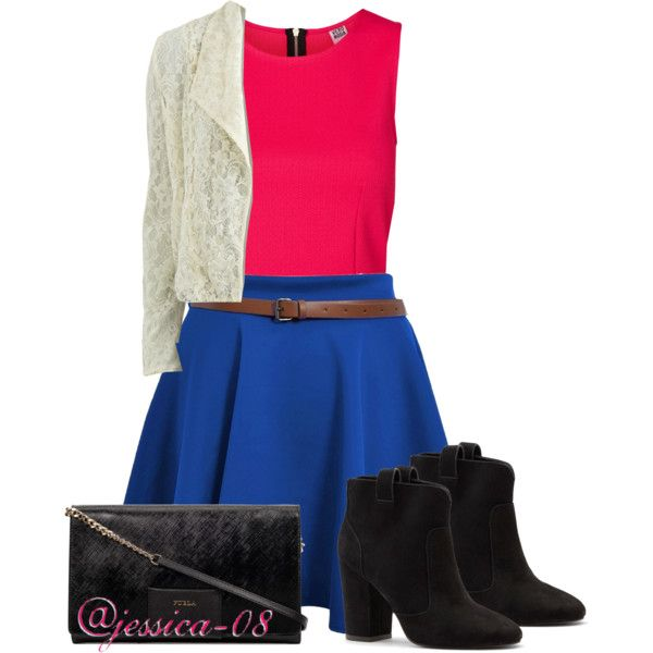 A fashion look from July 2014 featuring Vero Moda blouses, VILA blazers and Sole Society ankle booties. Browse and shop related looks.