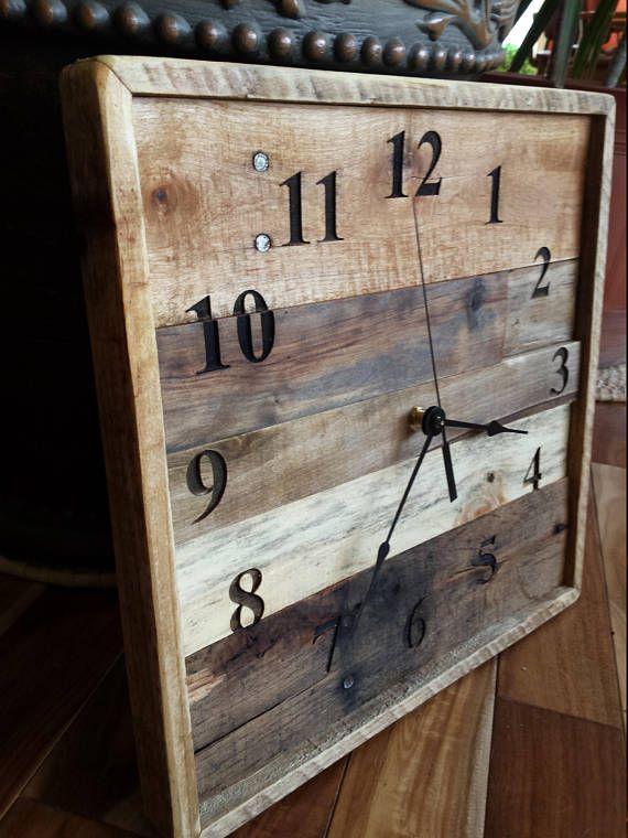 Rustic Wood Clock Pallet Wall Clock Reclaimed Wood Rustic Etsy
