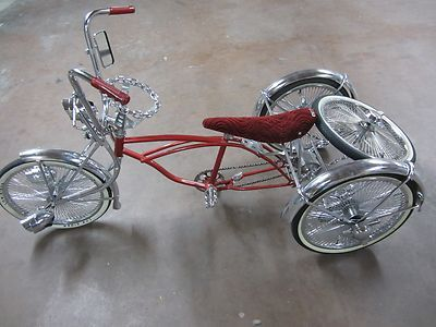Bicycle  Mirror Double Twisted  Chrome Clear Lowrider Cruiser Custom Show Bike