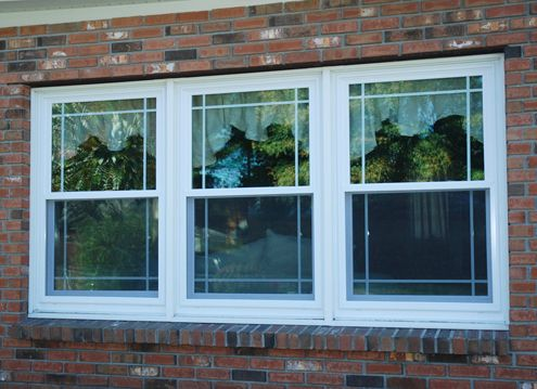 Anderson double hung window grills double hung with for Anderson vinyl windows