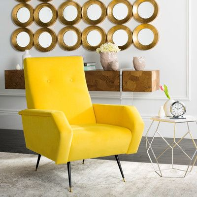 6 Yellow Armchairs For A Retro Home Furniture Balcony Table And