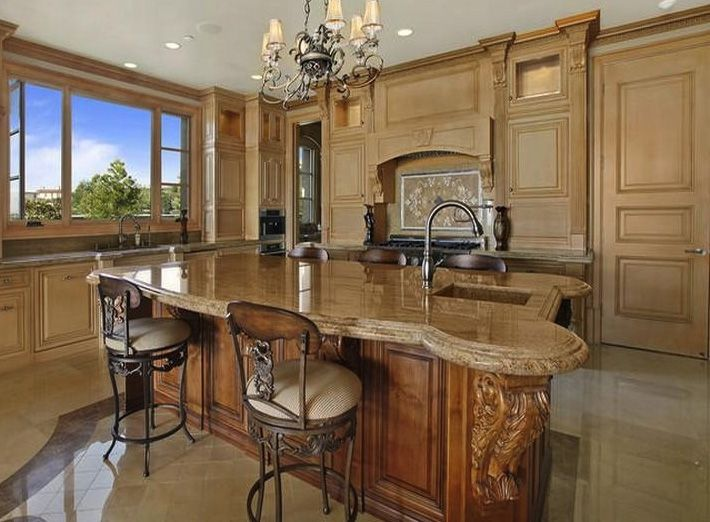 Kitchen beautiful kitchen design with wod corbels carved for Kitchen design visit
