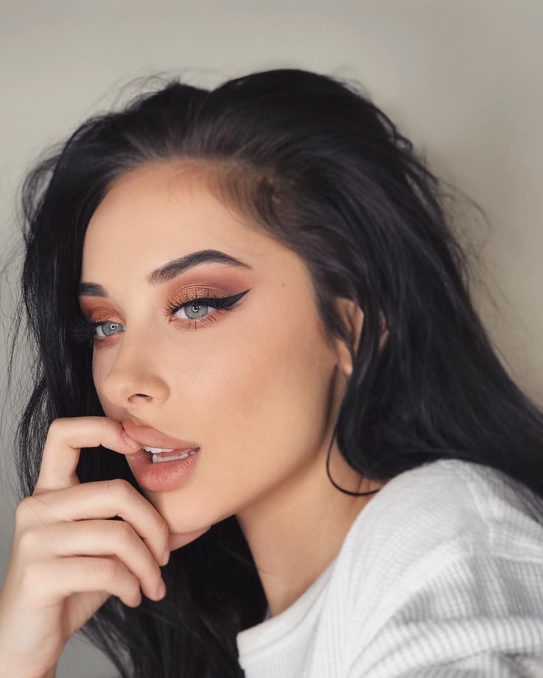 """Photo of Gina Shkeda on Instagram: """"nice warm tones Gina. Incredible. Revolutionary. Never been done. Creative af. Makeup artists who. Warm tones. Is that a morphe warm tones…"""""""