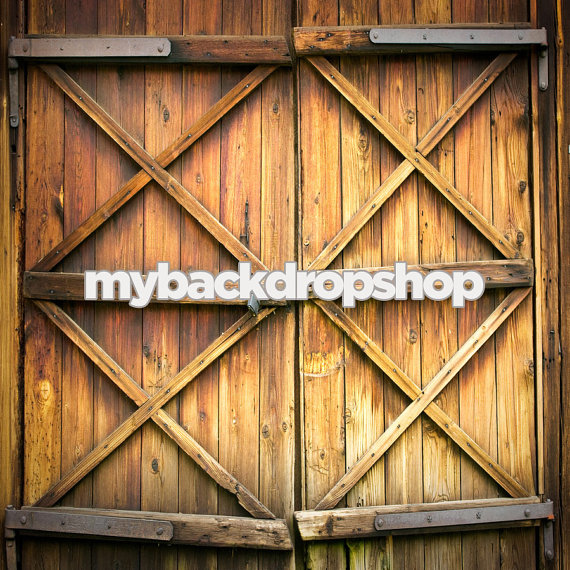 7ft X 7ft Barn Door Backdrop For Photos Rustic Barn Photography