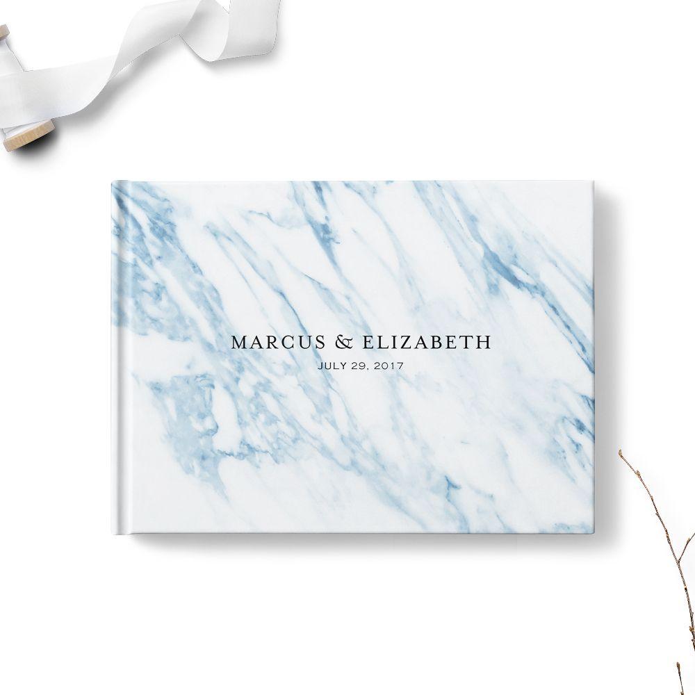 Blue Marble Wedding Guest Book Marble Wedding Wedding Guest Book Marble Invitation Wedding