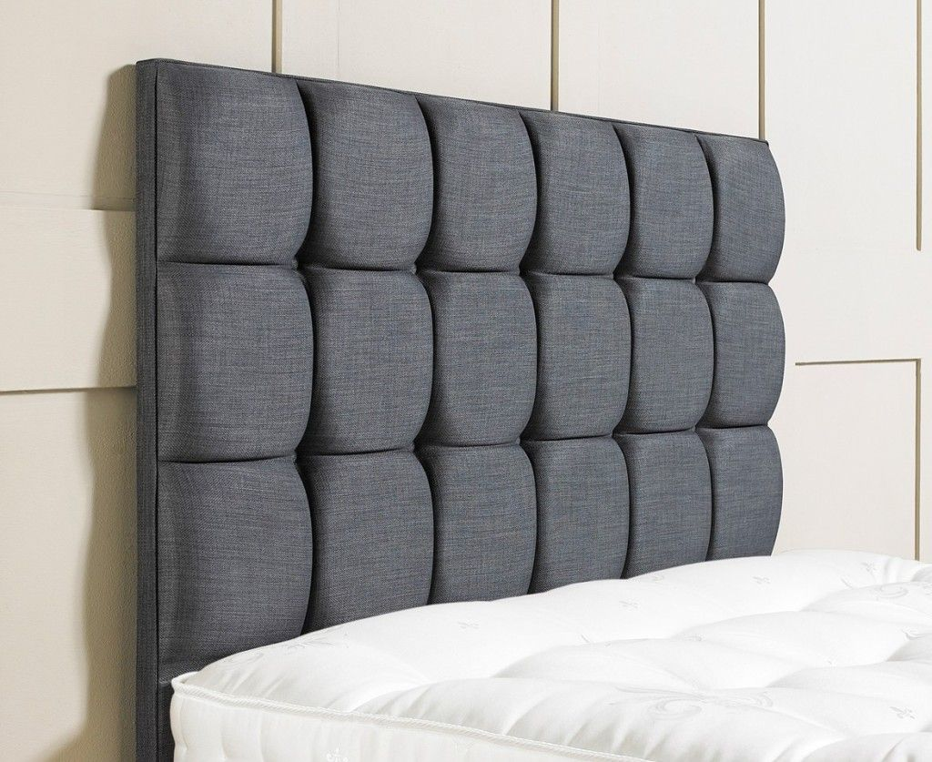 Bedroom, Minimalist Upholstered Headboard Design Using Black Tufted ...