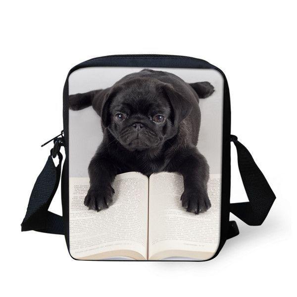 FORUDESIGNS Customize Women Messenger Bags Cute Pet Cat Dog Printing Shoulder Bag Messenger Bags High Crossbosy Bag For Girls