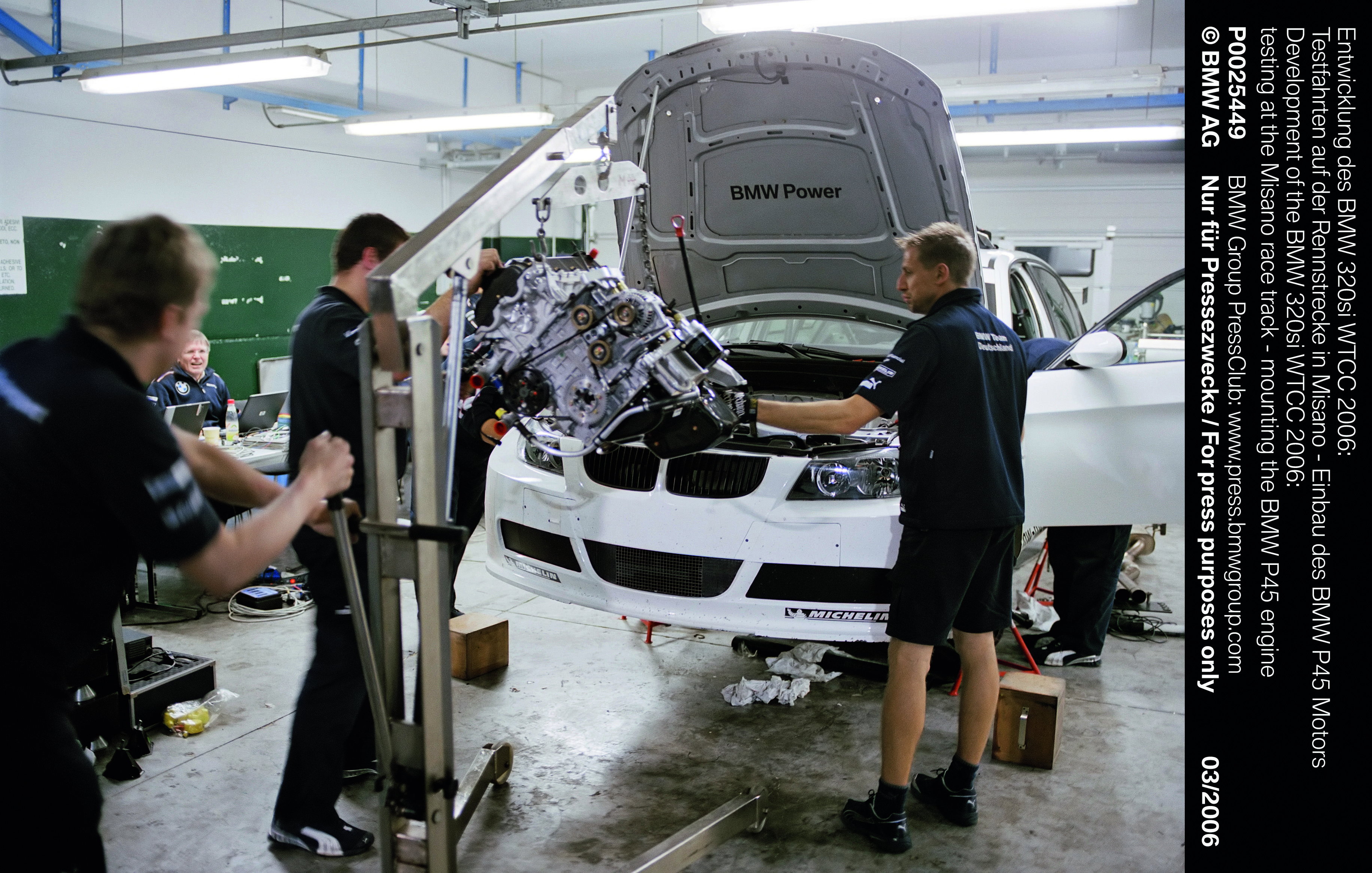 BMW AG Motorsport E90 320si factory built race car, being armed with ...