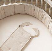 Washed Organic Linen Round Bumper