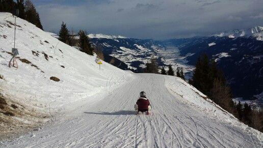 Es op de lanst verlichte rodelbaan ter wereld #Bramberg # Oostenrijk