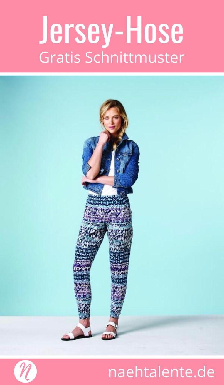 Einfache Jersey-Hose | Für damen, Drucken und Kostenlos