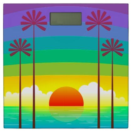 #personalize - #Sunset Bathroom Scale