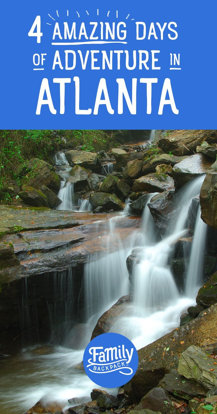 If you're looking for awesome things to do in the Atlanta, Georgia area with your kids, these are great ideas! Your whole family will love these outdoor adventures. Whether you live in #Atlanta or its nearby cities, are visiting or taking a road trip, these activities should be on your Atlanta bucket list. You'll find a great itinerary full of unique experiences for enjoying some of Atlanta's top attractions for families! #familytravel #kids #outdoors #adventure #thingstodo #bucketlist