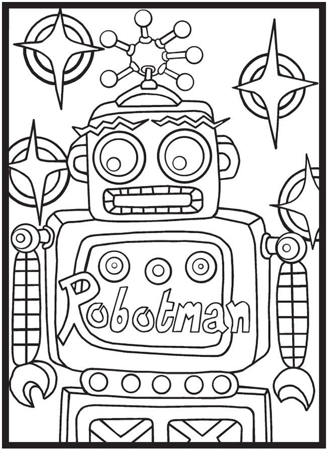 SPARK Robots Rule! Coloring Book -- 6 sample pages | Coloring Pages ...
