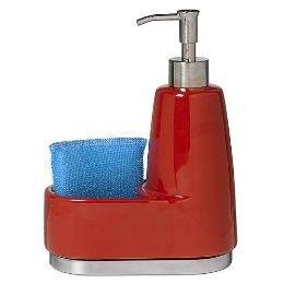 Red Ceramic Soap Dispensers   For Ceramic And Stainless Steel Soap Dispenser  And Sponge Holder