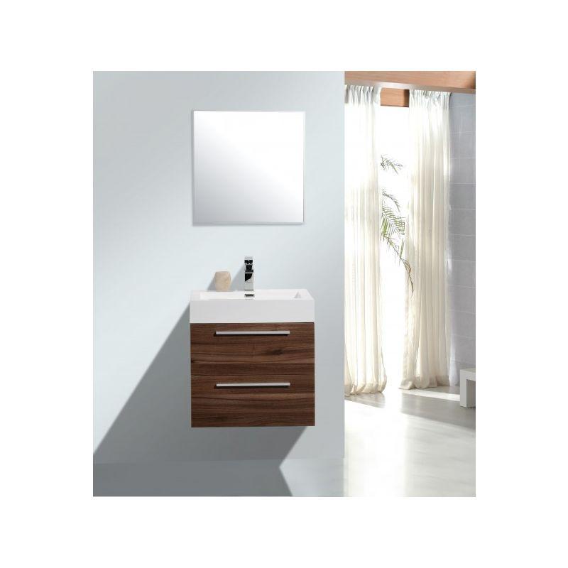 Meuble De Salle De Bain M600 Couleur Noyer Marron Fonce Miroir En Option Avec Armoire De Toilette G600 En 2020 Meuble Salle De Bain Armoire De Toilette Et Salle De Bain