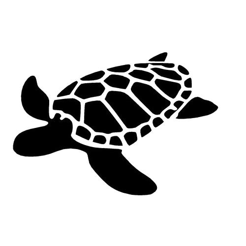 Sea Turtle Die Cut Vinyl Decal Pv685 Siluetas Siluetas Tortugas