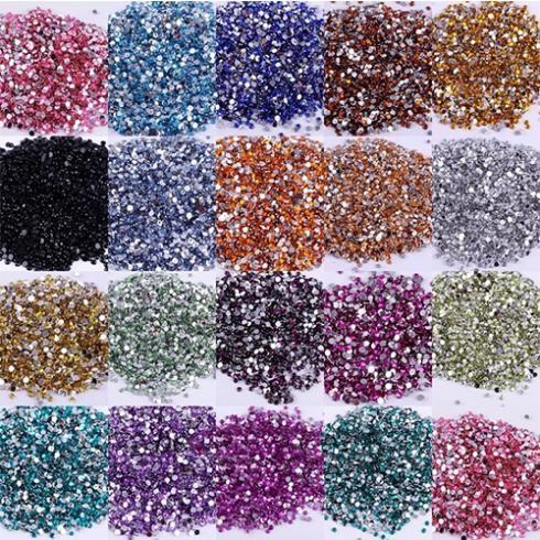 Wholesale 500pcs Crystal Flatback Acrylic Rhinestones Beads Nail Art ...