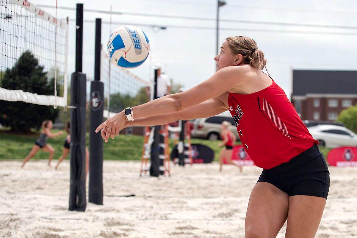 Austin Peay State University Beach Volleyball wins both