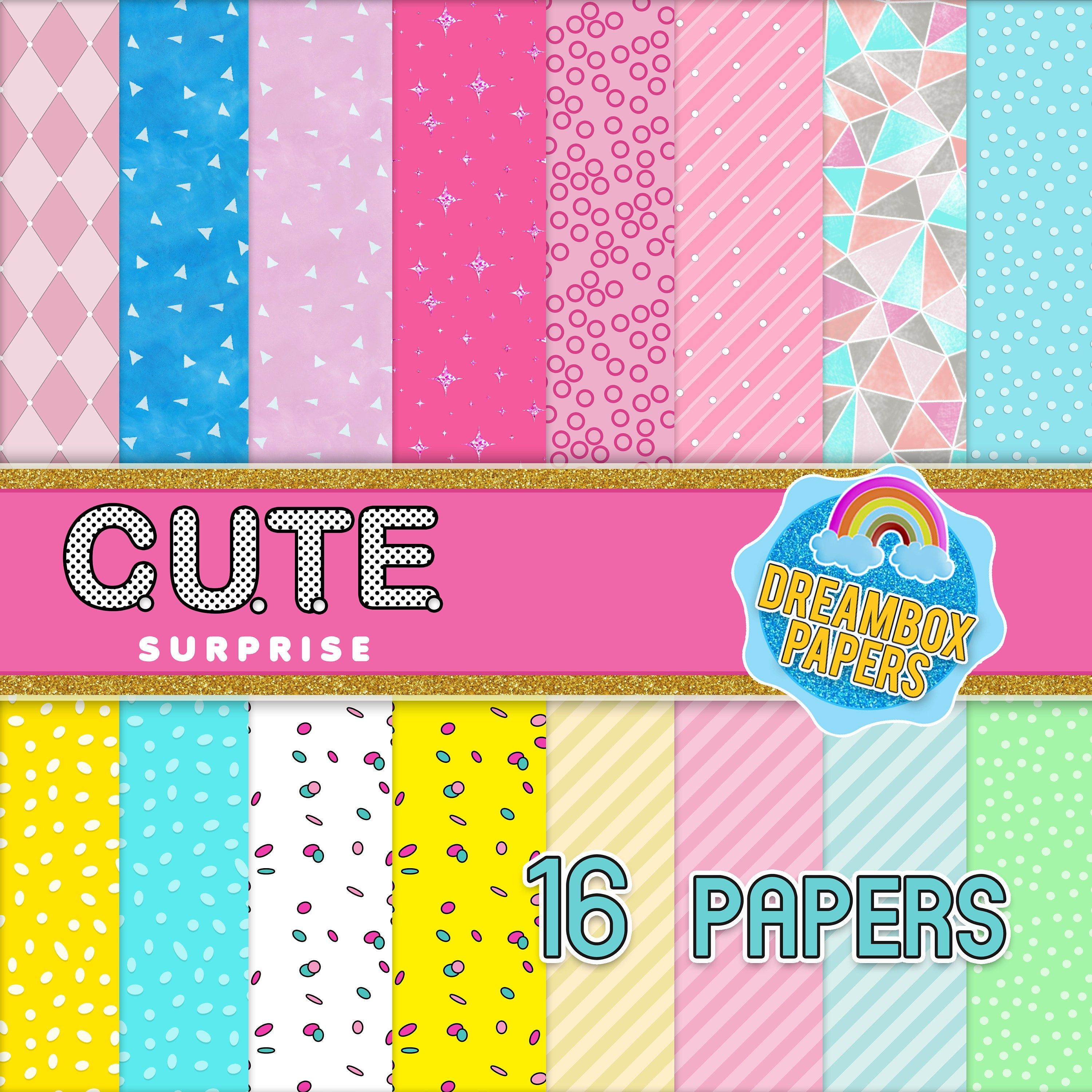 Cute Surprise Doll Digital Paper Inspired LOL Background