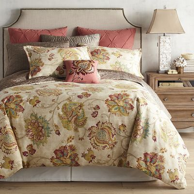 Dress Up Your Bedroom With Our Somerton Bedding Coordinates In A Multicolor Floral Print That Mak Duvet Cover Master Bedroom Luxury Bedding Luxury Duvet Covers