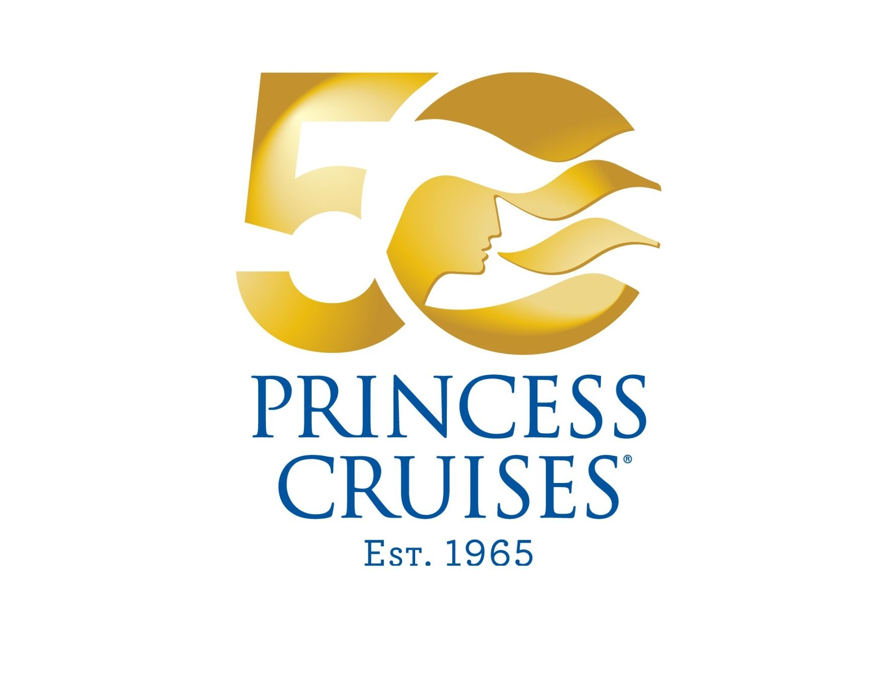 princess cruises to mark 50th anniversary with onboard rh pinterest ie 50th anniversary logo design 50th anniversary logo template