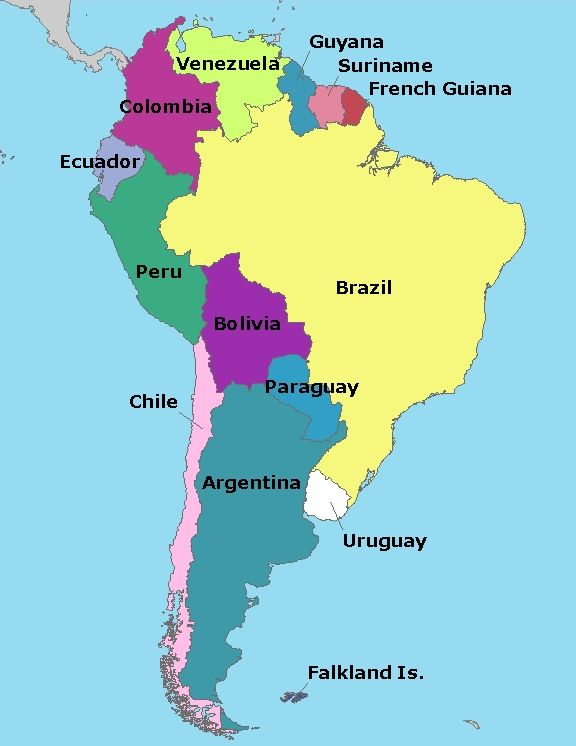 Map of South America | What About Earth | Pinterest | South america ...