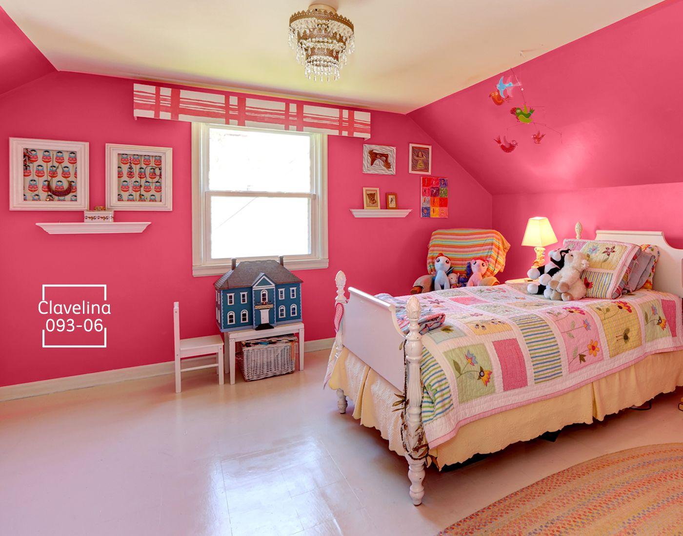 Colores intensos que har n brillar el cuarto de tu hija - De que color pintar una habitacion ...