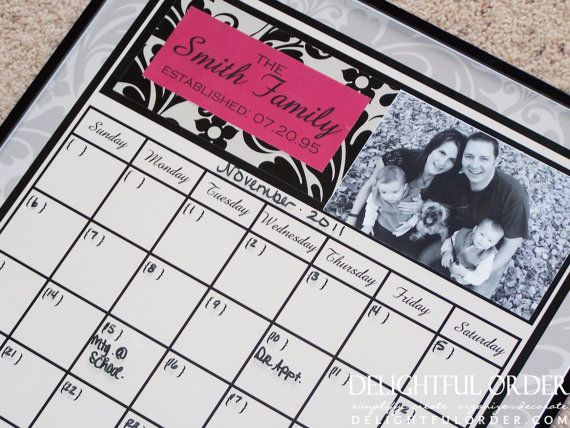Super easy to make!! gift ideas Pinterest Large wall calendar