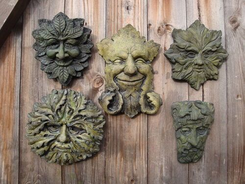 Green Man Wall Plaques Friendly Faces For Your Garden Ebay Uk Green Man Garden Ornaments Celtic